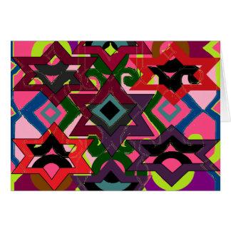 Adorno geométrico tarjetas