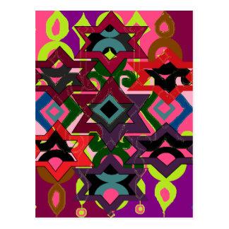Adorno geométrico tarjeta postal