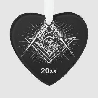 Adorno Illuminati todo el símbolo del Freemason del ojo