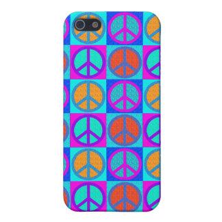 adorno IPhone 4 del signo de la paz iPhone 5 Carcasas