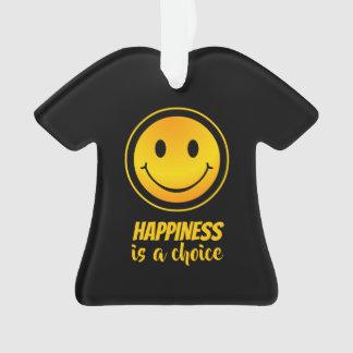 Adorno La felicidad es una inspirada sonriente feliz bien