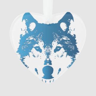 Adorno Lobo de los azules claros del ilustracion