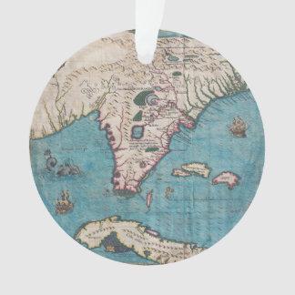 Adorno Mapa antiguo de la Florida y de Cuba