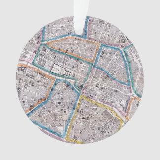Adorno Mapa antiguo de París