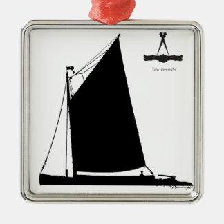 Adorno Metálico 1898 esquife de Norfolk - fernandes tony