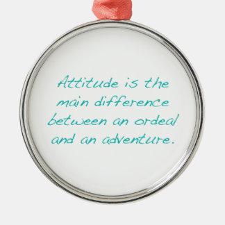 Adorno Metálico Actitud -- prueba dura o aventura (verde)
