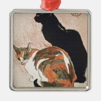 Adorno Metálico Acuarela - 2 gatos - Théophile Alejandro Steinlen