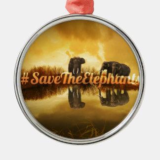Adorno Metálico Ahorre el diseño de los elefantes