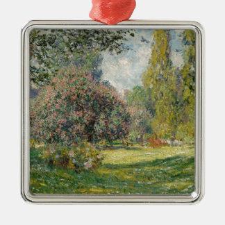 Adorno Metálico Ajardine el Parc Monceau - a Claude Monet