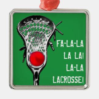 Adorno Metálico alegría del navidad del lacrosse
