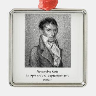 Adorno Metálico Alessandro Rolla antes de 1827