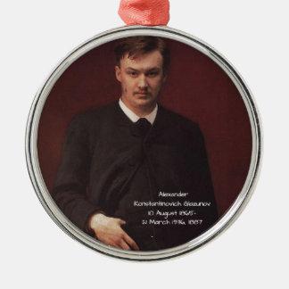 Adorno Metálico Alexander Konstamtinovich Glazunov 1887