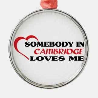 Adorno Metálico Alguien en Cambridge me ama