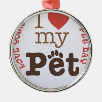 Adorno Metálico Ame su día del mascota - día del aprecio