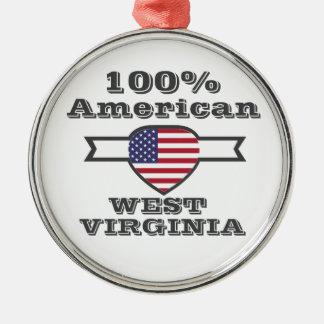 Adorno Metálico Americano del 100%, Virginia Occidental