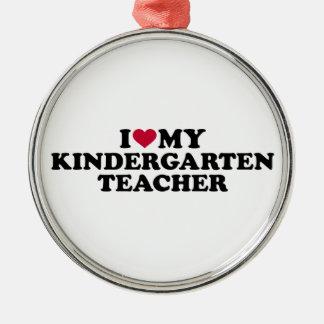 Adorno Metálico Amo a mi maestro de jardín de infancia