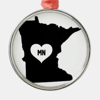 Adorno Metálico Amor de Minnesota