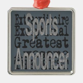 Adorno Metálico Anunciador de deportes Extraordinaire