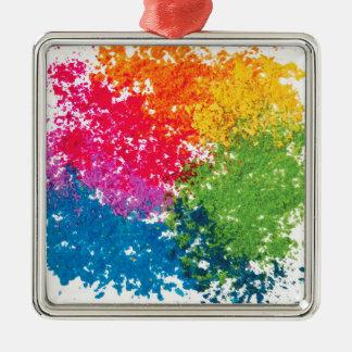Adorno Metálico Arco iris del polvo del color