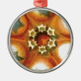 Adorno Metálico arte anaranjado de la base