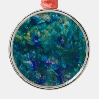 Adorno Metálico Arte azul de la pintura del Watercolour