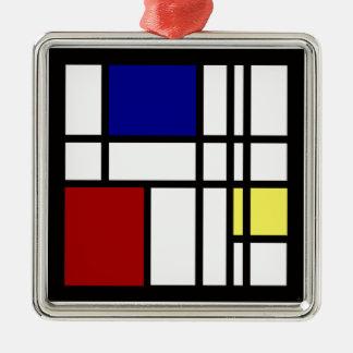 Adorno Metálico Arte de la impresión de Mondrian