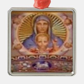 Adorno Metálico arte de Maria y del niño