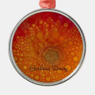 Adorno Metálico Arte pop anaranjado rojo de la margarita del