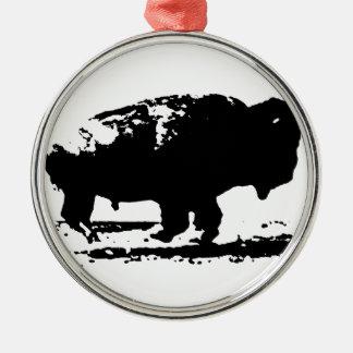 Adorno Metálico Arte pop corriente del bisonte del búfalo