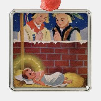 Adorno Metálico Arte retro del navidad polaco de Wesołyeh Świąt