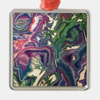 Adorno Metálico Arte topográfico IV del papel seda
