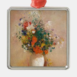 Adorno Metálico Assortion de flores en florero