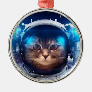 Adorno Metálico Astronauta del gato - gatos en espacio - espacio