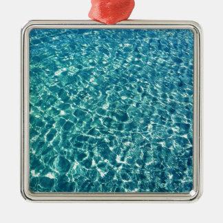 Adorno Metálico Azul claro del agua