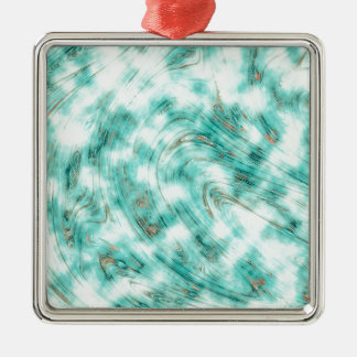 Adorno Metálico Azul de mármol abstracto