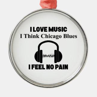 Adorno Metálico Azules de Chicago