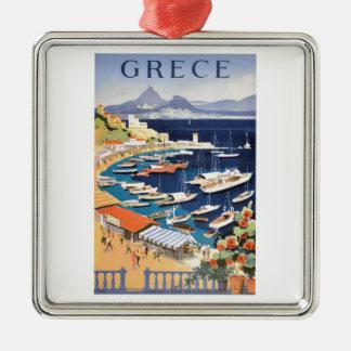 Adorno Metálico Bahía 1955 de Grecia Atenas del poster del viaje
