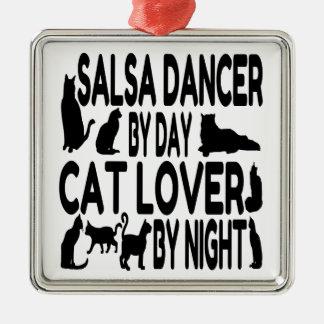 Adorno Metálico Bailarín de la salsa del amante del gato