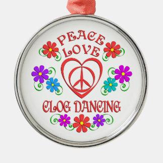 Adorno Metálico Baile de estorbo del amor de la paz