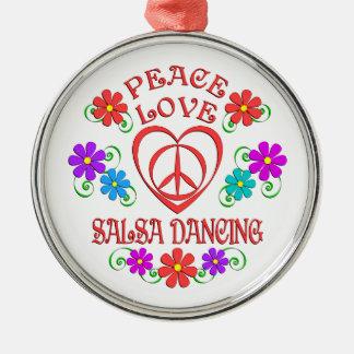 Adorno Metálico Baile de la salsa del amor de la paz