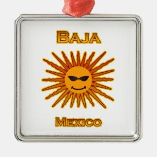 Adorno Metálico Baja México Sun hace frente al icono