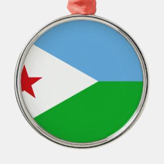 Adorno Metálico ¡Bajo costo! Bandera de Djibouti