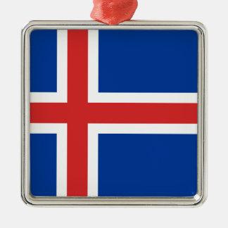 Adorno Metálico ¡Bajo costo! Bandera de Islandia