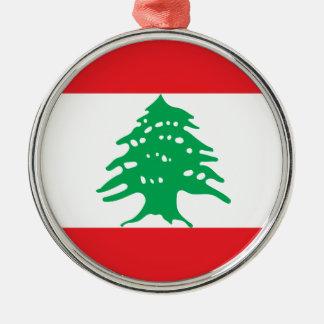 Adorno Metálico ¡Bajo costo! Bandera de Líbano