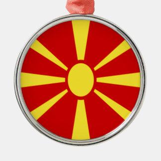 Adorno Metálico ¡Bajo costo! Bandera de Macedonia