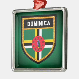 Adorno Metálico Bandera de Dominica