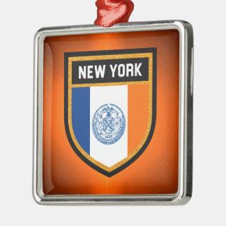 Adorno Metálico Bandera de New York City