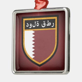 Adorno Metálico Bandera de Qatar