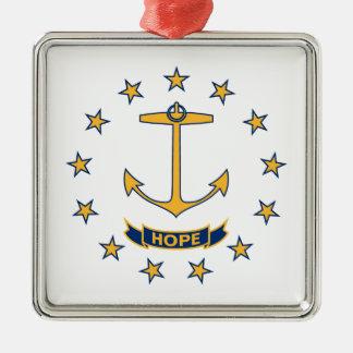 Adorno Metálico Bandera de Rhode Island