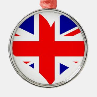 Adorno Metálico Bandera del corazón de Union Jack